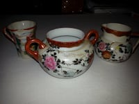 Asian dinner ware pieces tea mug bowl 30 km