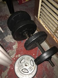 Black and gray dumbbells and barbell Blue Island, 60406