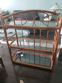 Wicker stand with glass .....