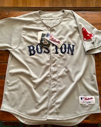 Never Worn Authentic On-Field Dustin Pedroia Jersey...