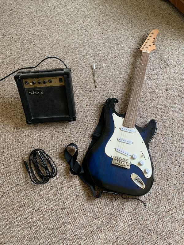 Sky Electric Guitar and Amp. 31352b66-8db9-4bbb-b235-bb89bef3ae1a