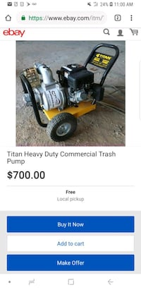 "Titan 3""x3"" 5.5 HP Trash Pump BRAND NEW Sarasota, 34241"