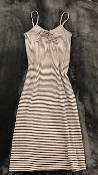 Black And White Striped dress Sterling, 20165