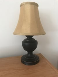 Oil Rubbed Bronze Small Table Lamp with Gold Shade Edmonton, T5T