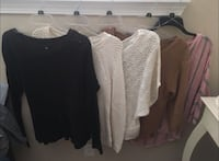 Women's five assorted knitted sweaters
