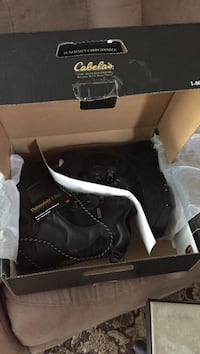 Pair of black inferno winter boots Morinville, T8R