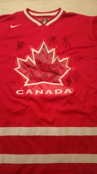 2010 Team Canada team signed Olympic red jersey  Edmonton, T6H 5S6