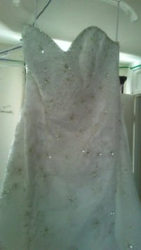 women's white floral wedding gown Chambersburg