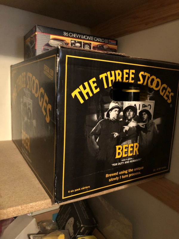 3 stooges collectible beer, never opened, collectable,, fb36fe13-74b9-432d-ac74-9884446eb7f0