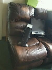 black leather recliner sofa chair 939 mi