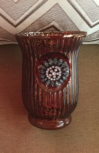 Vase with bling.