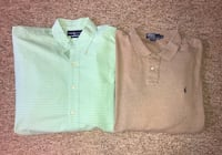 Lot of 2 Size XL Polo Ralph Lauren Shirts Hurricane, 25526