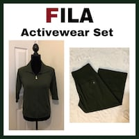 Fila Active Wear Hoodie Jacket and Wide Leg Capri's..Women's Sz Medium