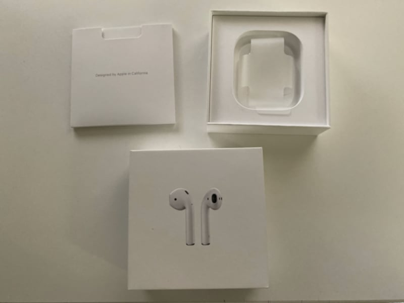 Used Box Only Apple Airpods 1st Gen Mmef2am A For Sale In Monroe