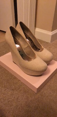 Beige canvas wedges Waldorf, 20603