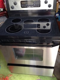 Black and  steel induction range oven Brampton, L7A 2L2