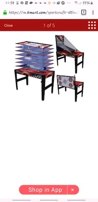 "Sportcraft 48"" 14 in 1 Multi Game Table"