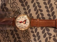Gold white betty boop analog watch with brown leather strap Baltimore, 21223