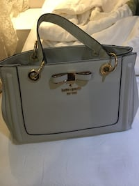 gray leather 2-way handbag Mississauga, L5W 1S9