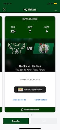 Bucks tickets