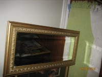 brown wooden framed wall mirror TORONTO