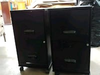 two black 2-drawer filing cabinets Alexandria, 22312