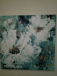 white and blue floral painting. Queens, 11379
