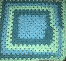 New handmade car seat blanket