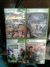 four Xbox 360 game cases Kansas City, 64108