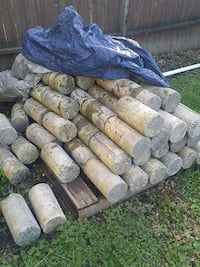 Landscaping concrete cylinders
