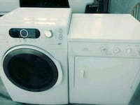 white front-load washer and dryer set 2228 mi