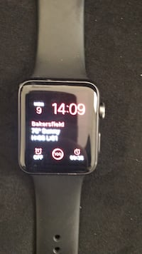 space gray aluminum case Apple Watch with black sports band Bakersfield, 93306
