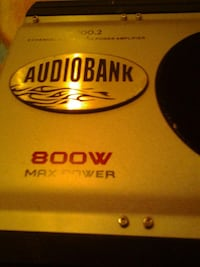 gray and black Audiobank 800W max power car amplifier