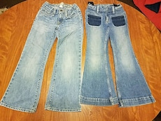 2 pair Girls jeans size 6.