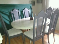 Unique  CHIC refinished dining set for 6! WOW! Kitchener, N2N 1L7