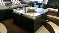 FOR SALE: Espresso wood and glass Coffee Table Brampton, L6P 3H1