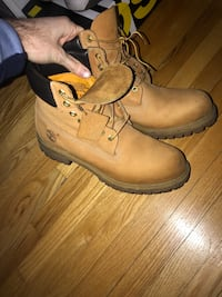 Black & wheat timbs size 10