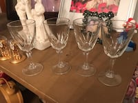 Four clear small wine glasses District Heights, 20747