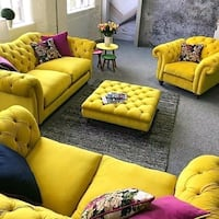 yellow and green floral sofa set Seattle, 98168