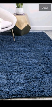 Brand new area rug 5x8 ft blue shag price is firm Mississauga, L5J 4E6