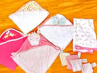 Infant Girls Hooded Towels & Washcloths Bundle  Baltimore, 21230