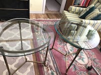 High end glass top coffee & 2 end tables Dallas, 75228