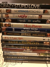 assorted DVD movie case lot Silver Spring, 20910
