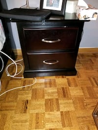brown wooden 2-drawer nightstand Woodbridge, L4H