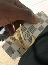 LOUIS VUITTON BELT (WHITE) SIZE 42