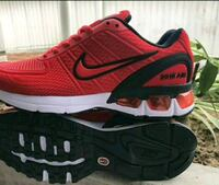 unpaired red and black Nike basketball shoe Marietta