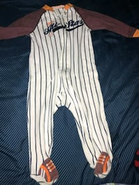 white and black stripe onesie Gaithersburg, 20878