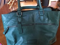 Marc New York green leather tote