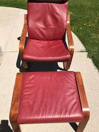 Leather chair and ottoman (2 pc) Brampton, L7A 3X7