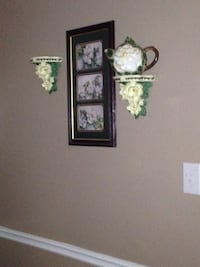 three white flowers paintings with brown wooden frame Conyers, 30094